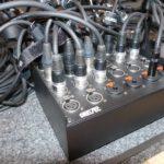 Custom Stagebox als Studio-Wallbox. Hier ist die Verkabelung im Tonstudio an einer Stagebox zu sehen.