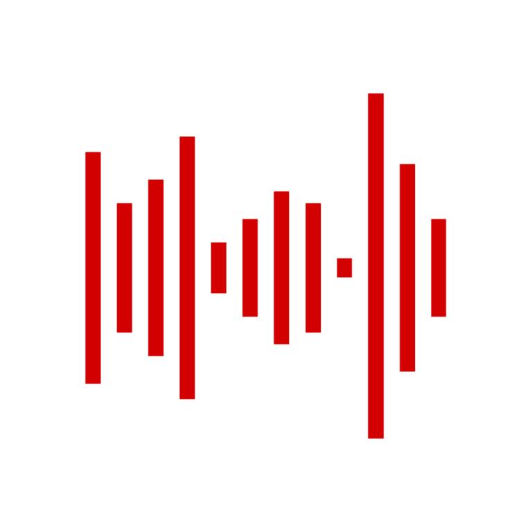 Red Carpet Studio Icon. Hier siehst du das Icon des Red Carpet Studio in rot auf weiß.